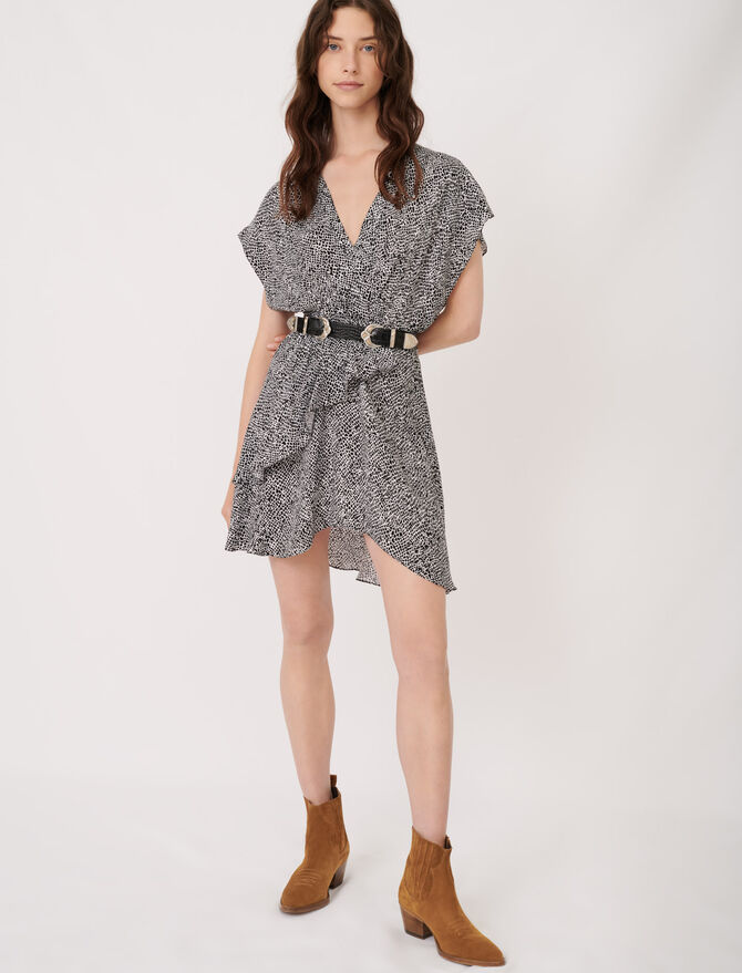 Asymmetric animal print dress - Dresses - MAJE