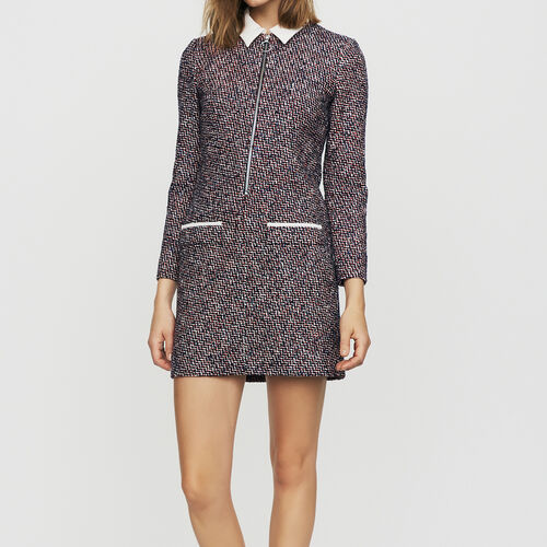 Tweed shirt dress : Dresses color Jacquard