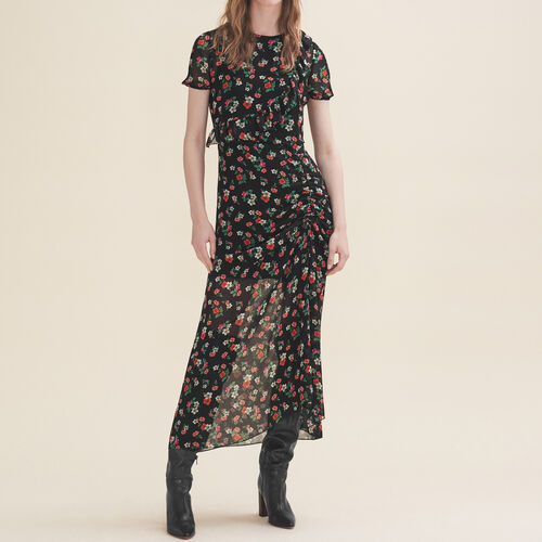 Long printed dress - Dresses - MAJE
