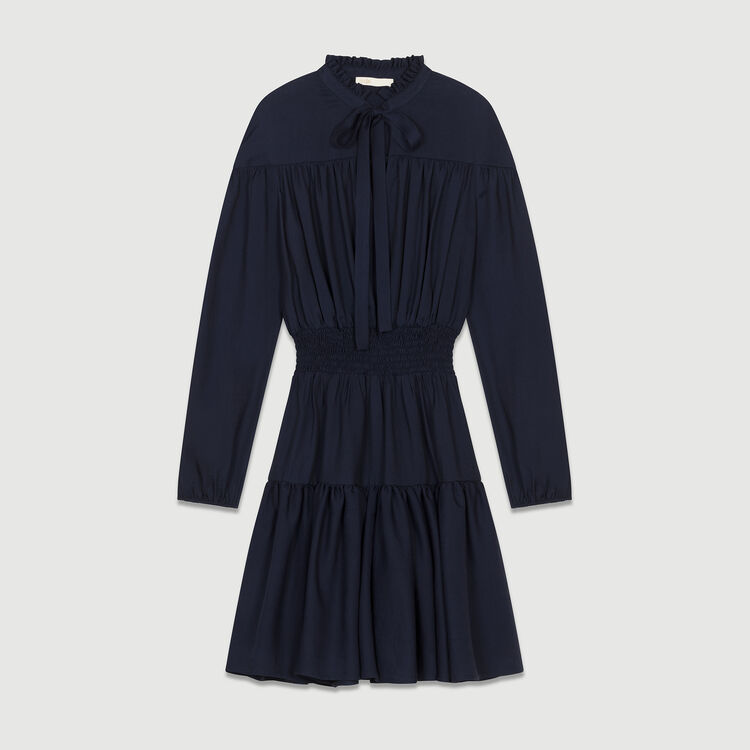 Ruffle smocked dress : Dresses color NIGHT BLUE