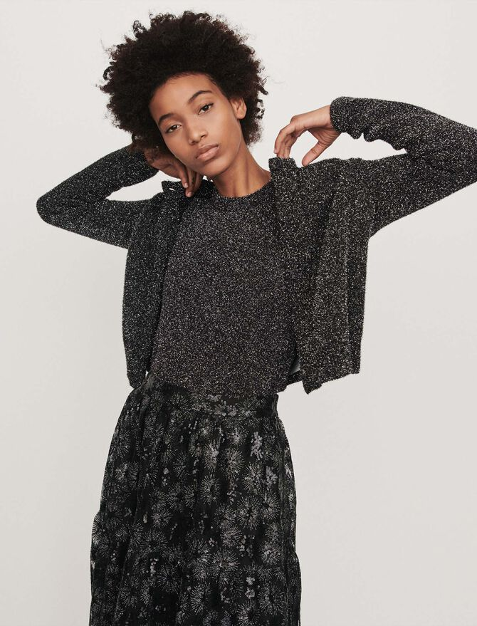 Cropped Lurex cardigan - See all - MAJE