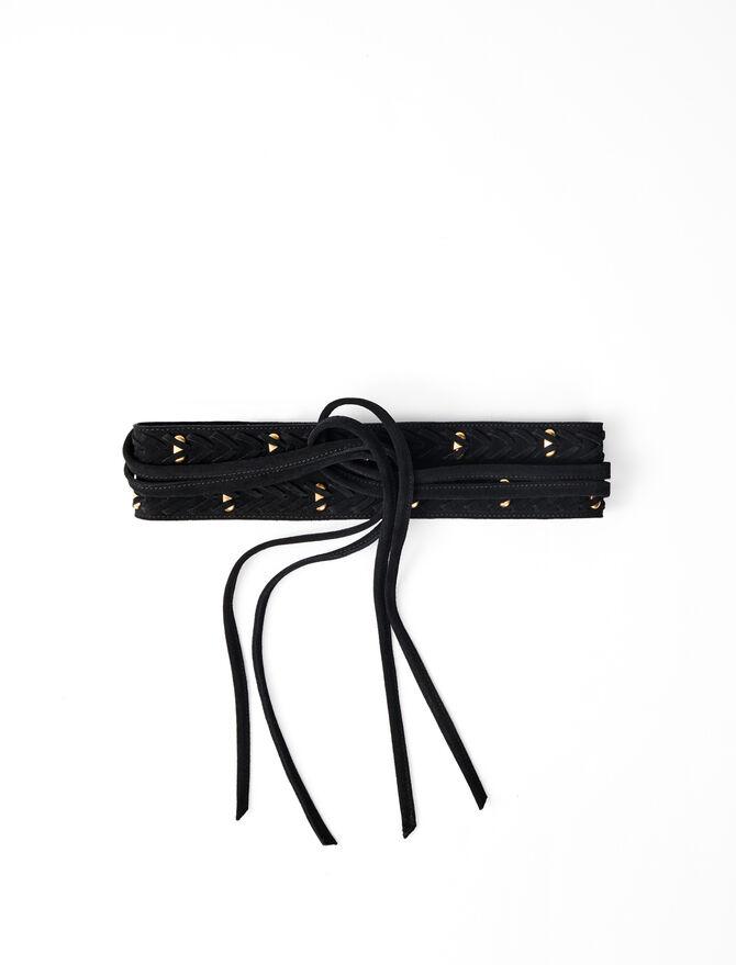 Horsebit-style tie belt -  - MAJE