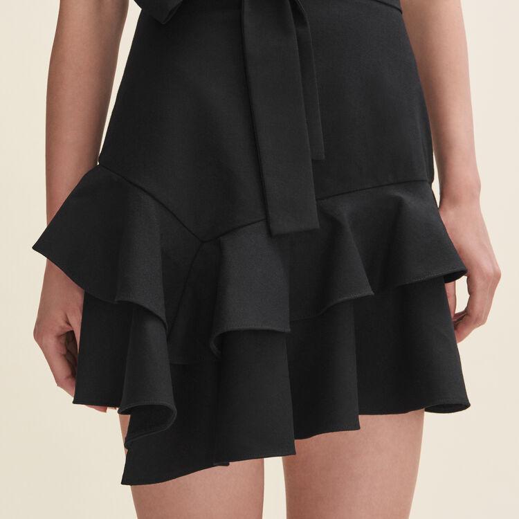 Short flounced skirt : Skirts & Shorts color Black 210
