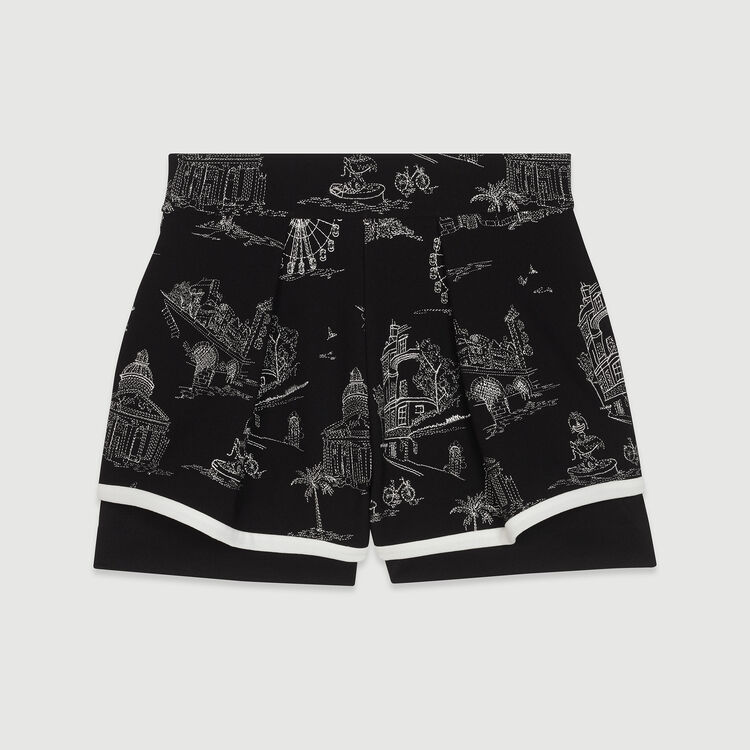 Embroidered crepe shorts : New in : Summer Collection color Black 210