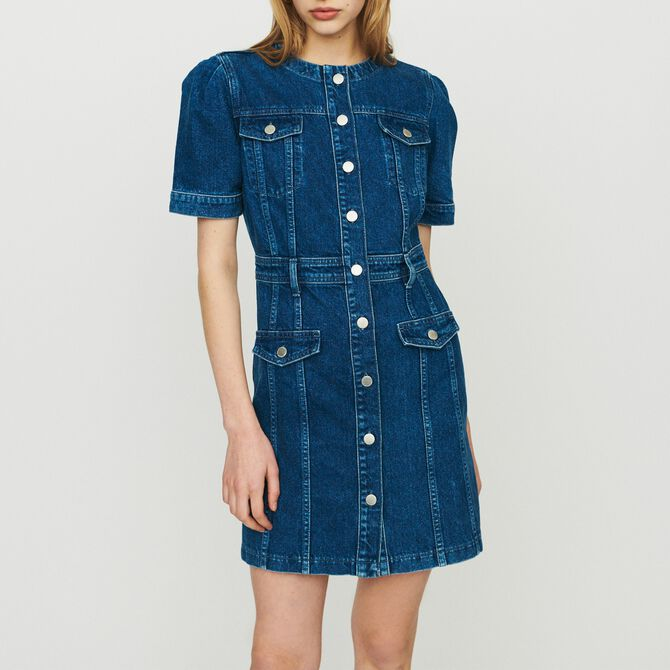 Denim dress - Ride with me - MAJE