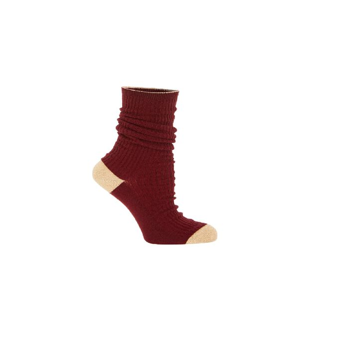 Socks : Gift with purchase color Burgundy