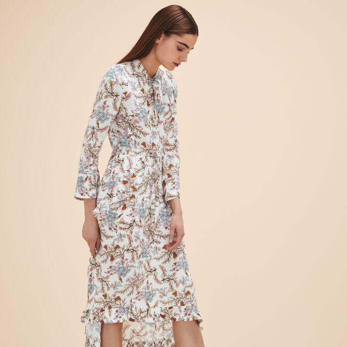 Long printed dress - Robes - MAJE