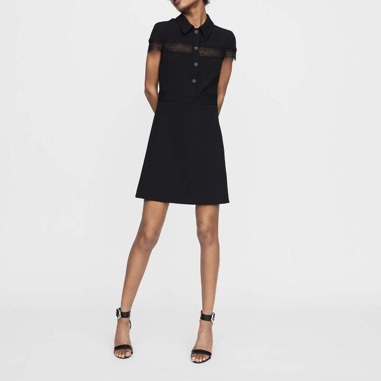 Crepe shirt dress : New Collection color Black 210