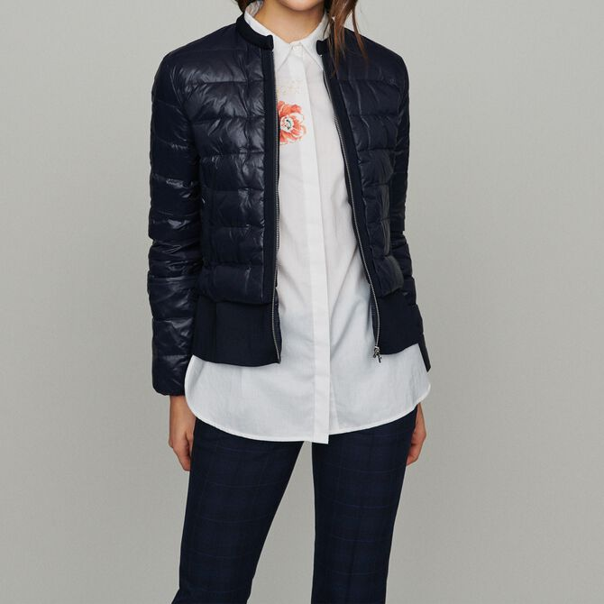 Lightweight down jacket with basque - See all - MAJE