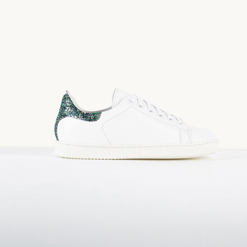 Trainers with sequin detail : Accessories color White