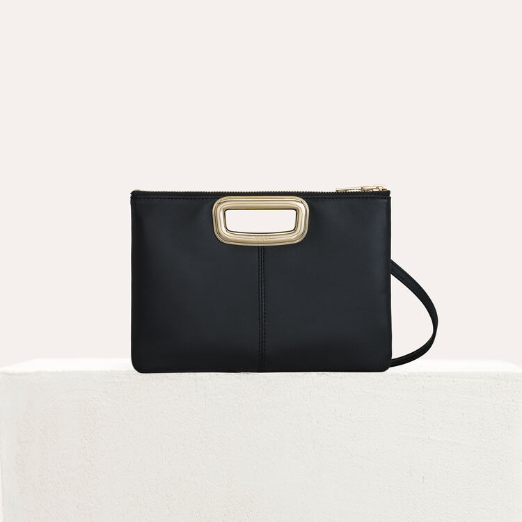M Duo Skin purse in leather : M Duo color Black 210