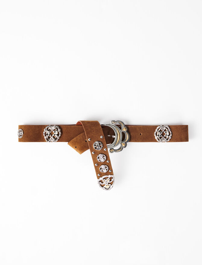 Berber-style leather belt -  - MAJE