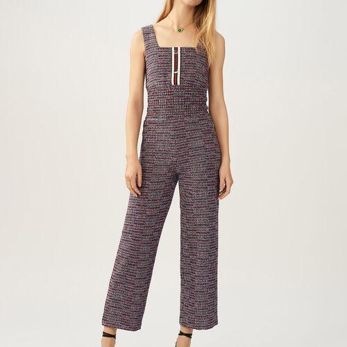 Tweed jumpsuit : Trousers & Jeans color Jacquard