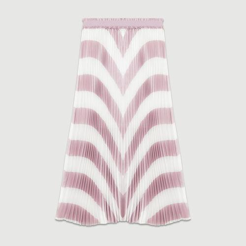 Pleated stripe skirt : Skirts & Shorts color PURPLE