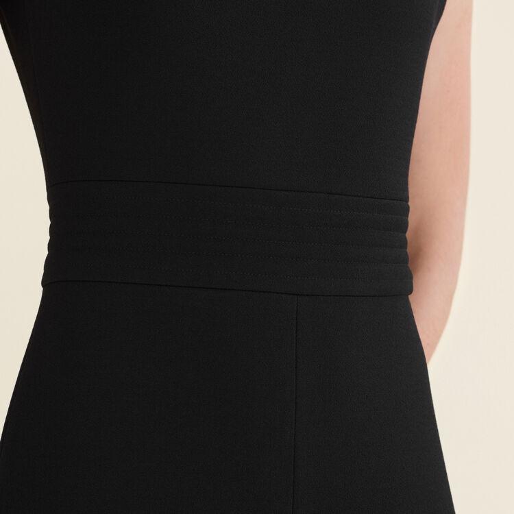Sleeveless crêpe jumpsuit : Trousers & Jeans color Black 210