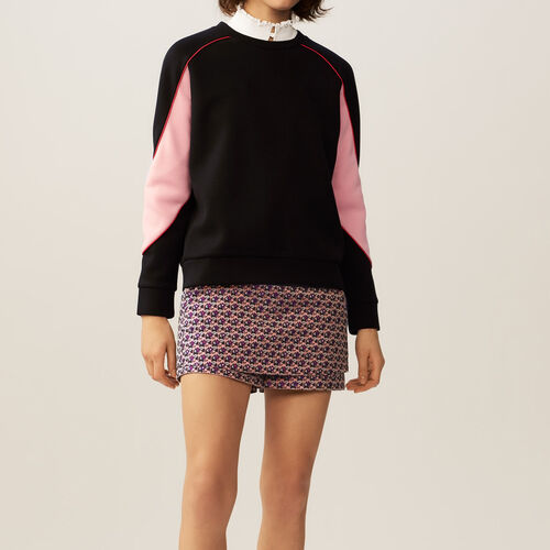 Sweatshirt with colorful details : Sweaters & Cardigans color Black 210