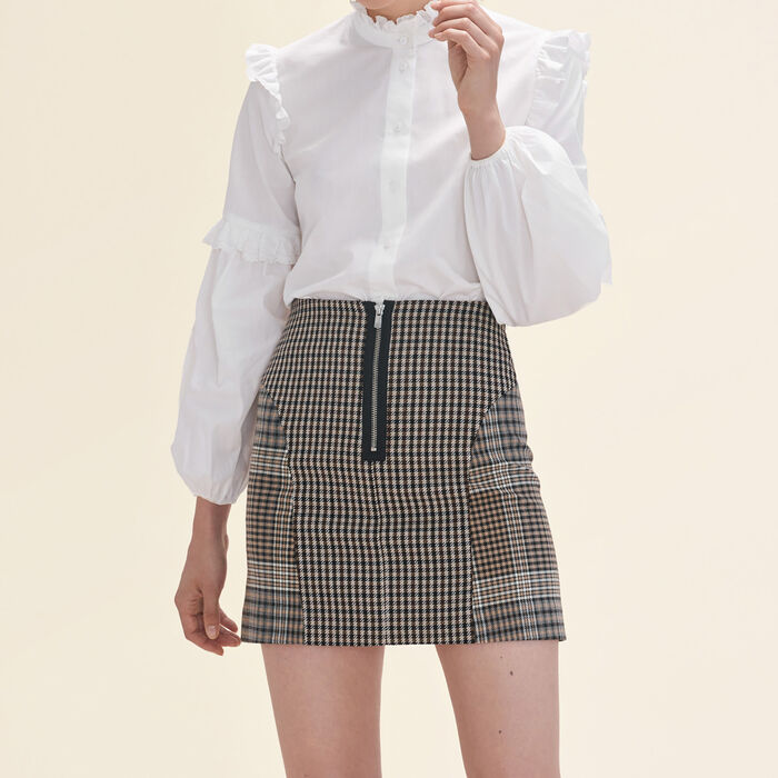 Checked skirt -  - MAJE