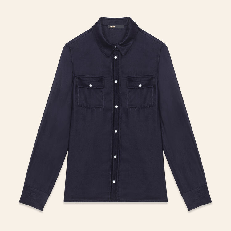 Velvet shirt : Tops color Navy
