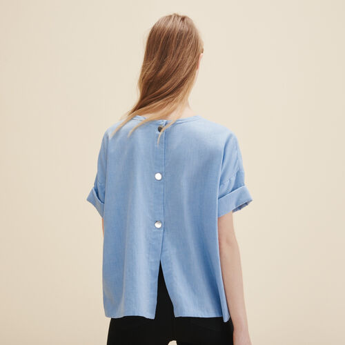 Brushed cotton top - Tops - MAJE