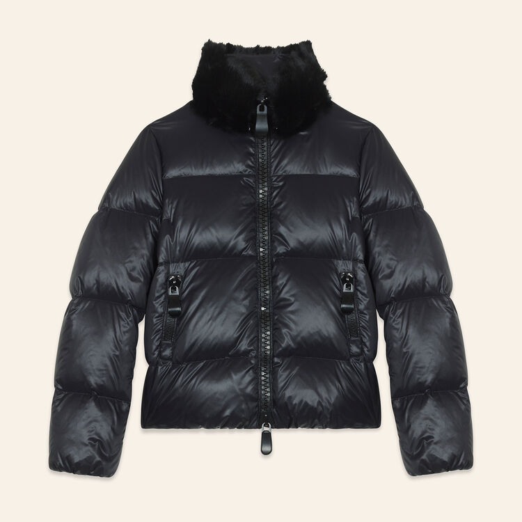 Cropped quilted down jacket : Jackets & Blazers color Black 210