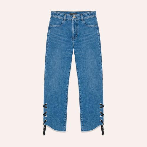 Boyfriend-cut cropped jeans - Jeans - MAJE