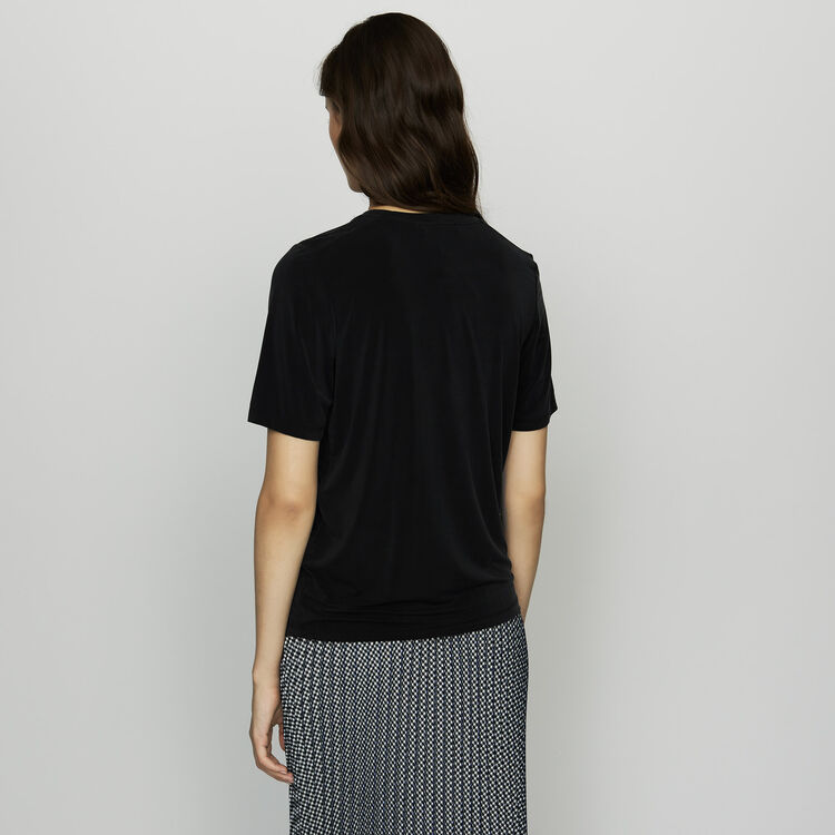 Cupro T-shirt : Ready to wear color Black 210