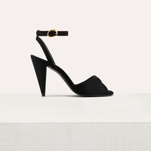 Leather high heals sandals : Accessories color Black 210