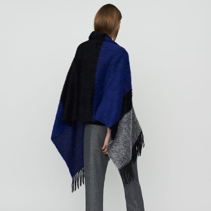 Echarpe en laine color block : Knitwear color Purple