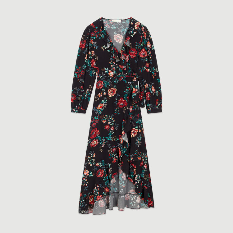 Long printed wrap dress : Dresses color PRINTED