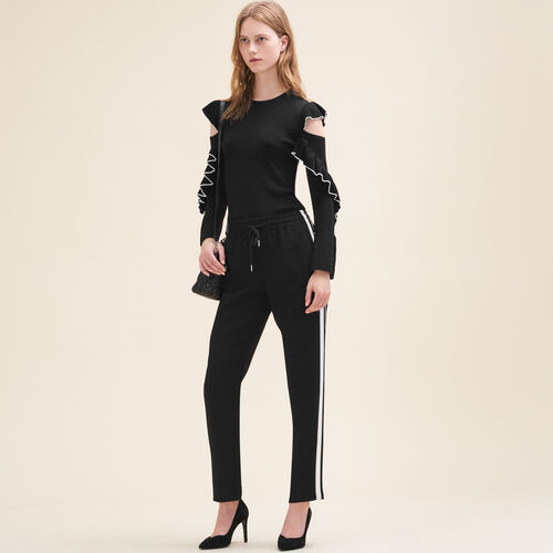 Jogging-style trousers : Trousers color Black 210