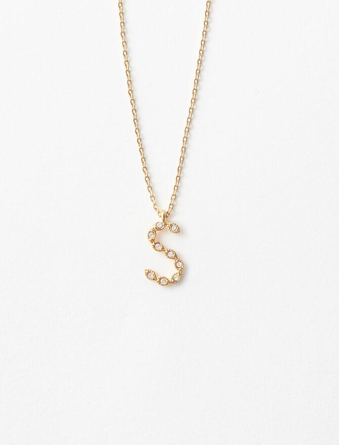 Rhinestone S necklace -  - MAJE