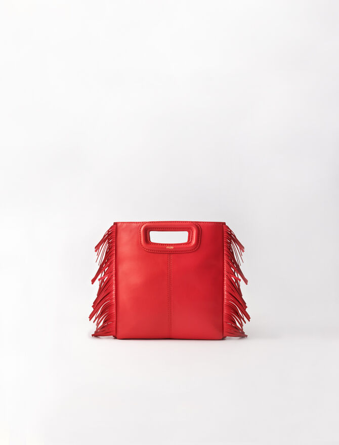 Mini leather M bag -  - MAJE