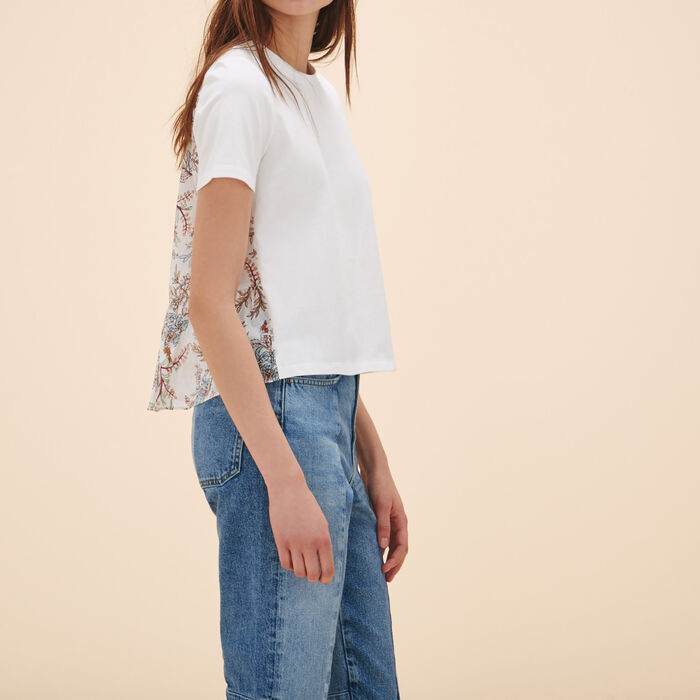 T-shirt with print at the back -  - MAJE