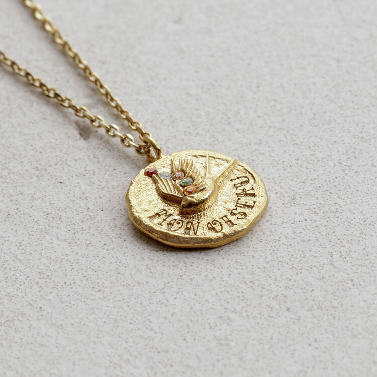 """Necklace """"Mon oiseau"""" in gold plated : Jewelry color GOLD"""