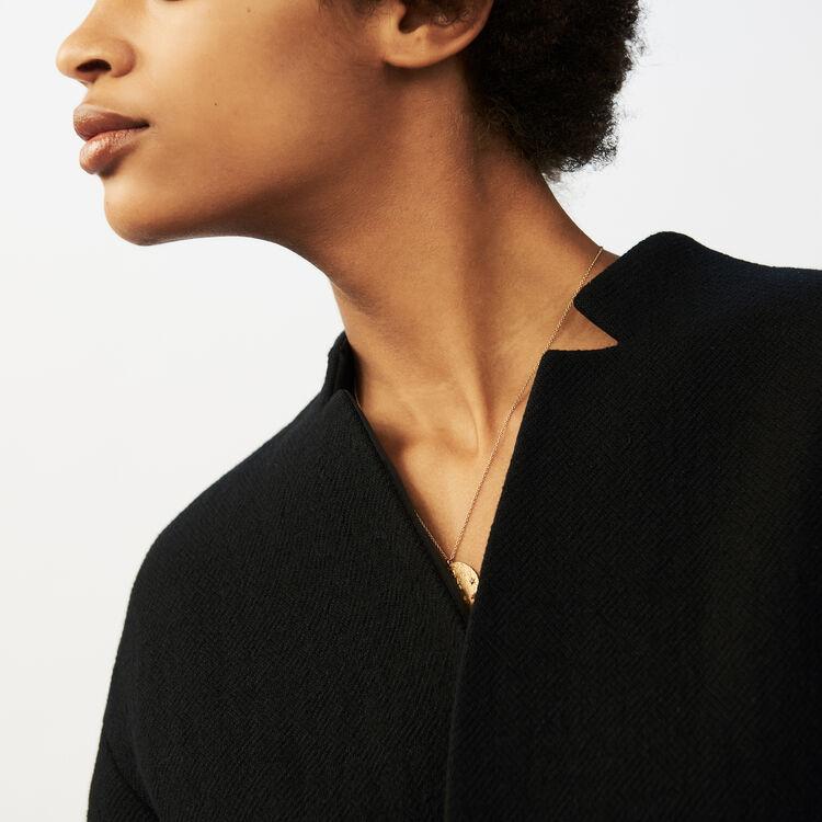 Cropped belted coat : Coats color Black 210