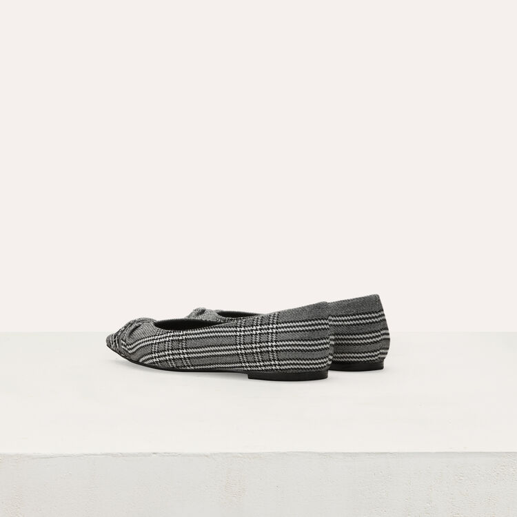 Flat pumps in Prince of Wales plaid : Flat shoes color CARREAUX