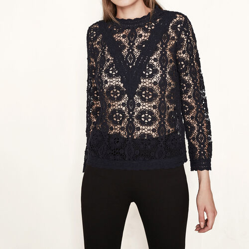 Guipure lace top : Tops color Night