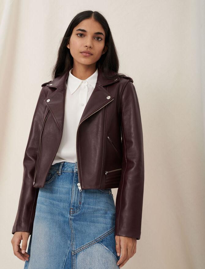 Leather biker-style jacket - Coats & Jackets - MAJE