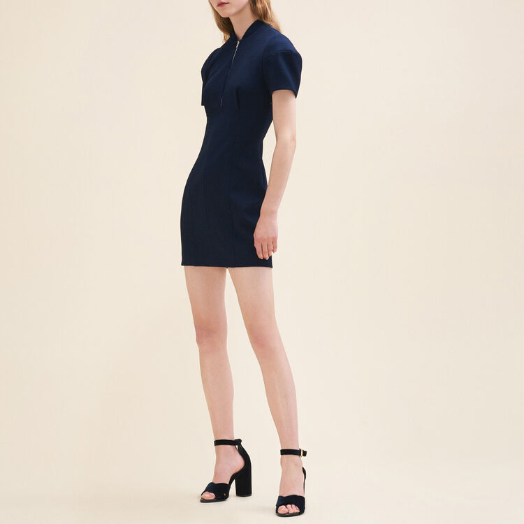 Short structured dress : Dresses color Navy