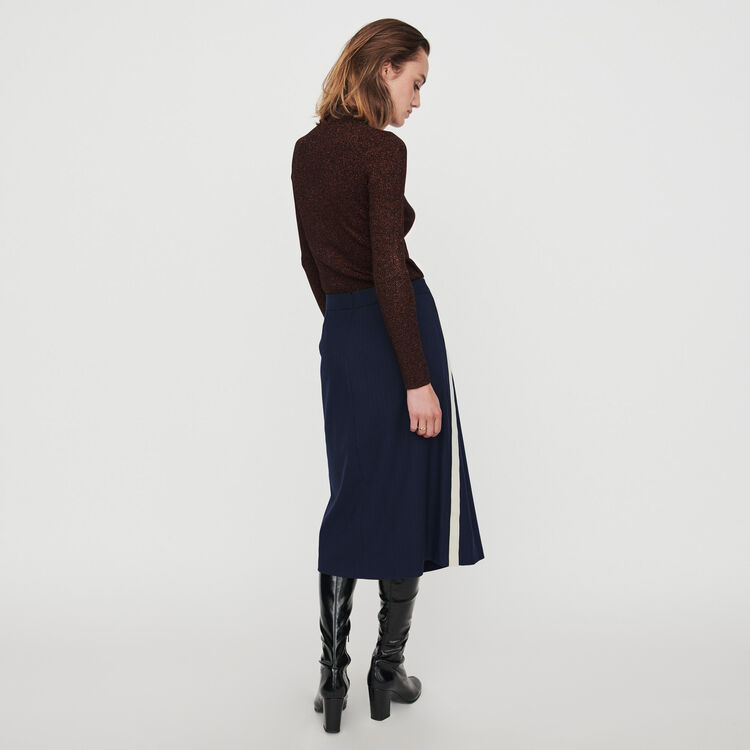 Skirt with racing stripes : Winter collection color Navy