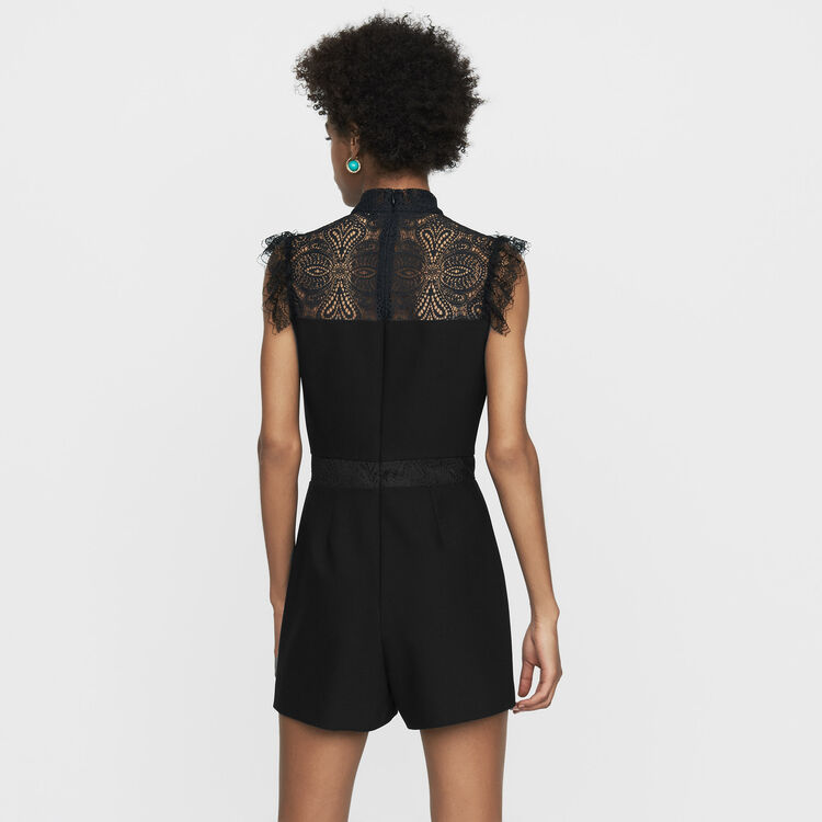 Romper with lace : Jumpsuits color Black 210