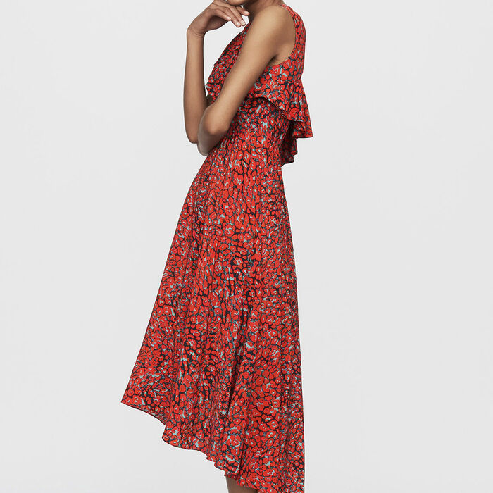 Asymmetric sleevless dress : Dresses color Print