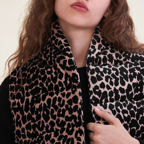 Leopard print quilted scarf : Accessoires color PRINTED
