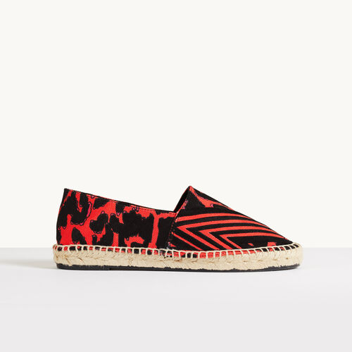 Printed espadrilles : Accessories color Red