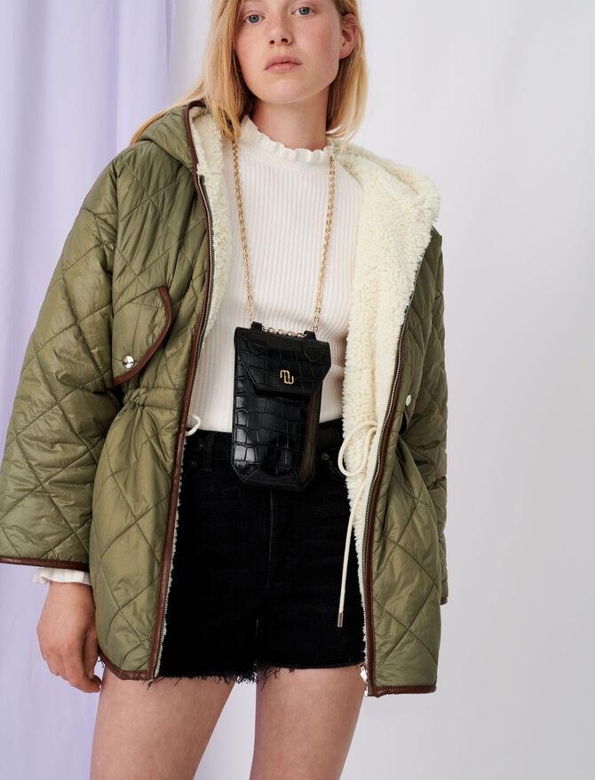 Down jacket with hood and fur-effect - Coats & Jackets - MAJE