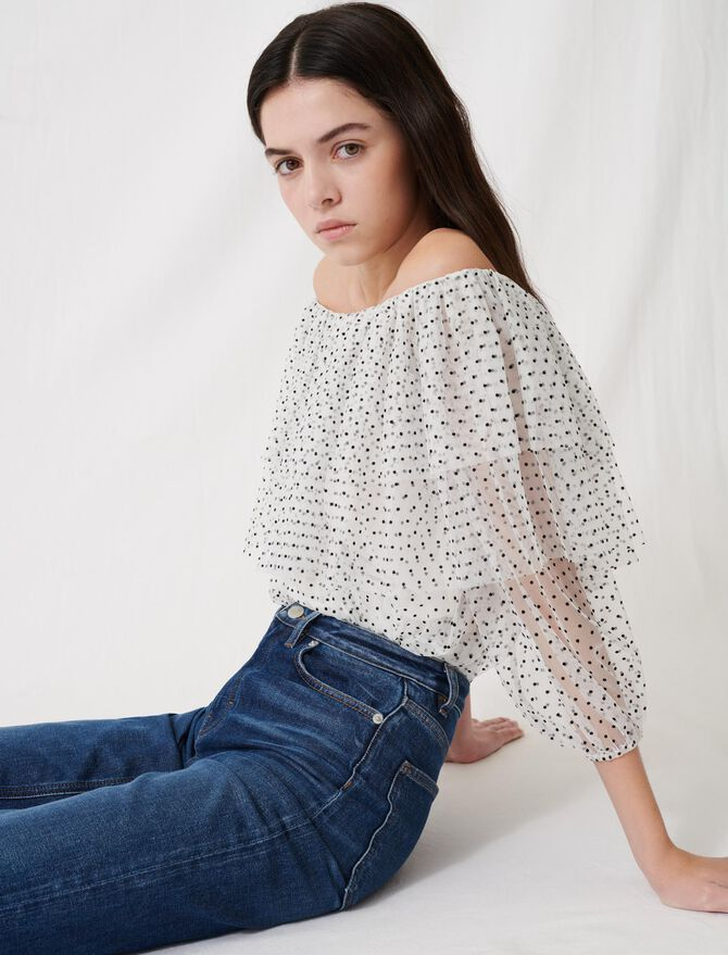 Loose top with ruffles -  - MAJE