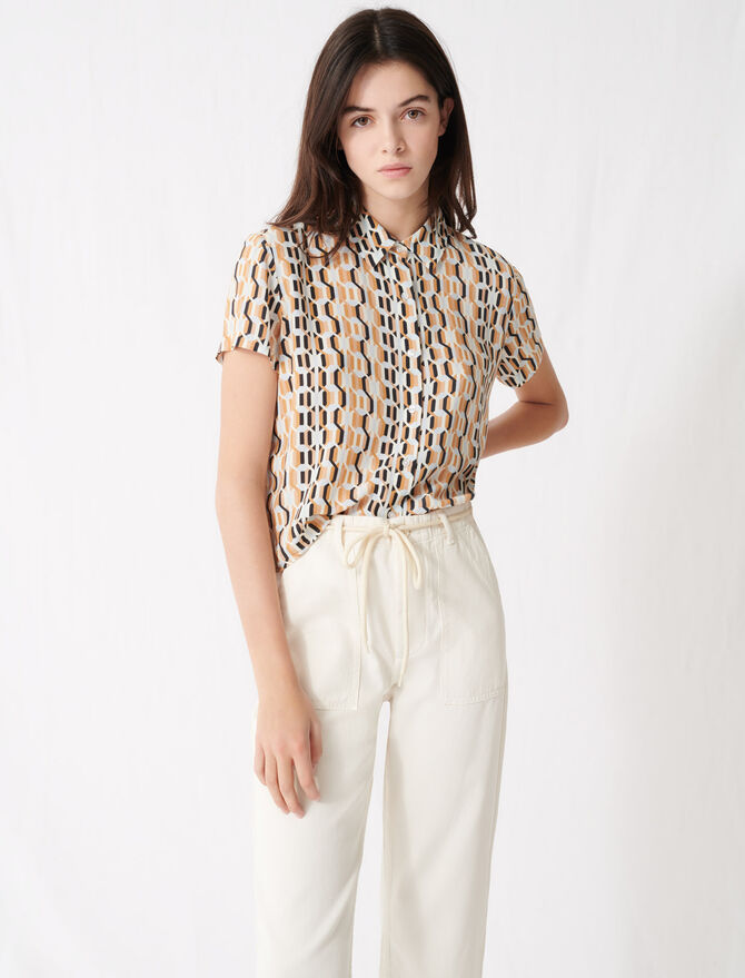 Printed short-sleeved shirt - Tops & Shirts - MAJE