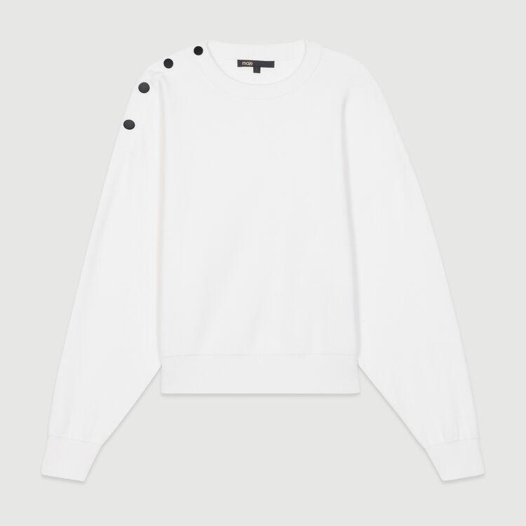 Shoulder-button sweater : New Collection color ECRU