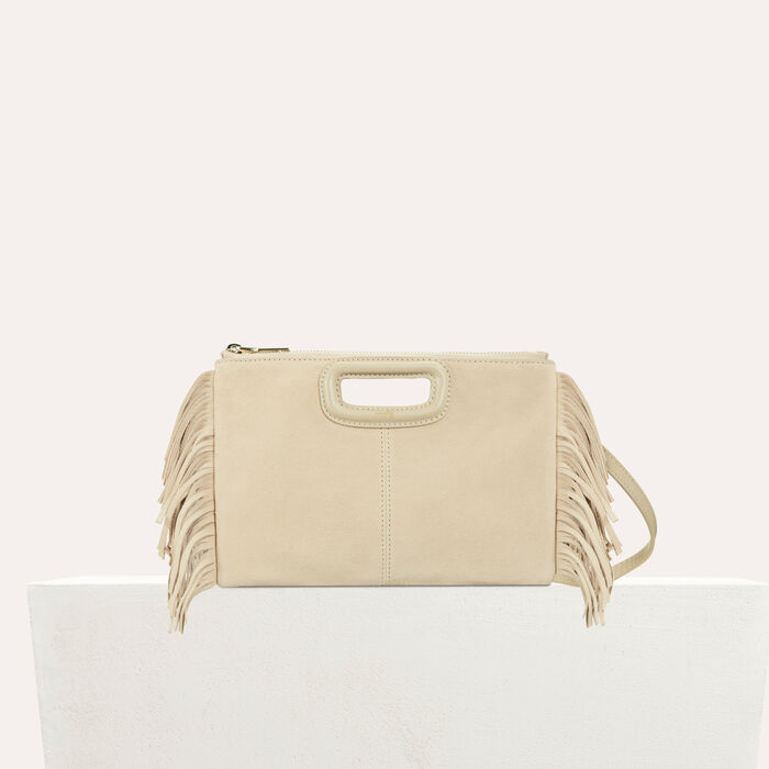 M Duo clutch in suede : M Duo color Beige