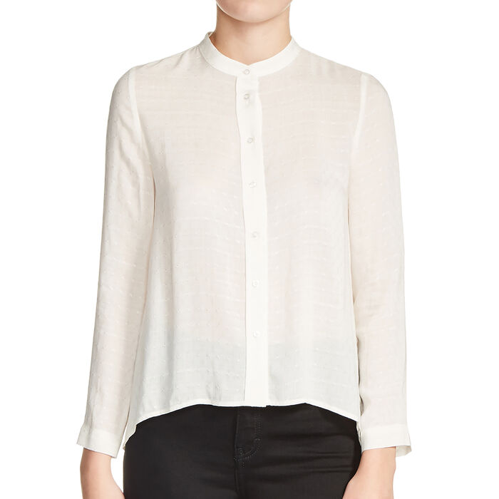 Blouse with knot back : Low Prices color Ecru
